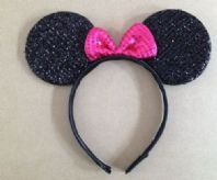 Sparkling Pink Minnie Mouse Ears